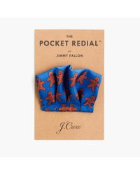 J.Crew | Blue Jimmy Fallon Limited-edition Pocket Redial In Silk for Men | Lyst