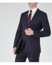 Reiss - Blue Lester B Mottled Wool Blazer for Men - Lyst