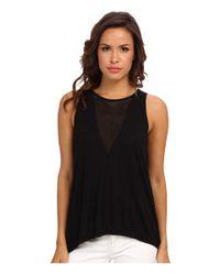 BCBGMAXAZRIA - Black Harlow Sleeveless Knit Top - Lyst