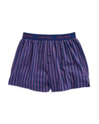 Calvin Klein - Blue Slim Fit Boxer Shorts for Men - Lyst