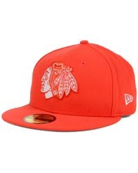 KTZ | Orange Chicago Blackhawks C-dub 59fifty Cap for Men | Lyst