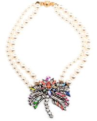 Shourouk - Natural Palm Tree Pearl Necklace - Lyst