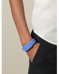 Marc By Marc Jacobs - Blue Rubber Logo Bracelet - Lyst