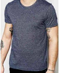 Hilfiger Denim | Blue T-shirt In Crew Neck In Twisted Yarn for Men | Lyst