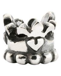 Trollbeads | Metallic Sterling Silver Prince & Princess Bead | Lyst