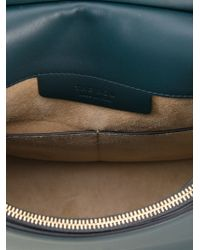 The Row   Blue Hunting Mini Leather Shoulder Bag   Lyst