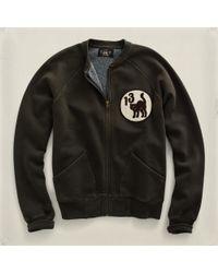 RRL   Gray Fleece Fullzip Jacket for Men   Lyst