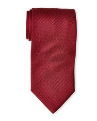 Valentino | Dark Red Textured Silk Tie for Men | Lyst