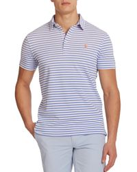 Polo Ralph Lauren - Blue Striped Featherweight Polo for Men - Lyst