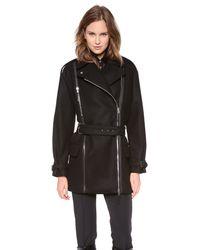 Jean Paul Gaultier - Black Wool Coat - Lyst