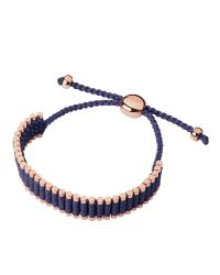 Links of London - Deep Purple Friendship Bracelet - Lyst