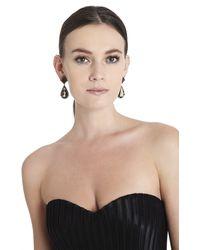 BCBGMAXAZRIA - Gray Pave Stone Earrings - Lyst