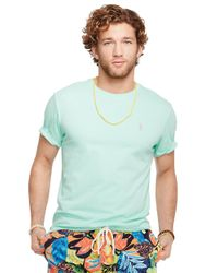 Polo Ralph Lauren | Green Jersey Crewneck T-Shirt for Men | Lyst