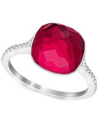Swarovski | Metallic Swarovksi Silver-tone Stone And Crystal Pavé Ring | Lyst