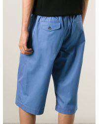 Alexander McQueen - Blue Loose Fit Shorts for Men - Lyst