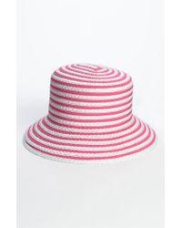 Lyst - Eric Javits  braid Dame  Hat in Pink 9102f194d33