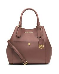 MICHAEL Michael Kors | Pink Large Saffiano Leather Grab Bag | Lyst