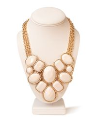 Forever 21 | White Forget-me-not Statement Necklace | Lyst