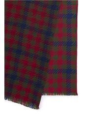 Franco Ferrari - Blue Plaid Wool-silk Scarf - Lyst