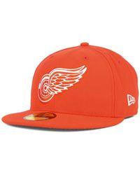 KTZ - Orange Detroit Red Wings C-dub 59fifty Cap for Men - Lyst
