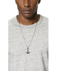 Miansai | Metallic Anchor Necklace Noir for Men | Lyst