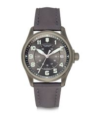 Victorinox | Stainless Steel Automatic Strap Watch/Black for Men | Lyst