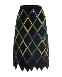 Marco De Vincenzo | Multicolor Diamond Pattern Nappa Leather Skirt | Lyst
