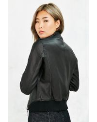 Members Only | Black Vegan Leather Jacket | Lyst
