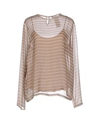 Max Mara | Natural Blouse | Lyst