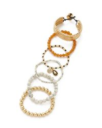 Samantha Wills - Metallic Magnetic Rhythm Bracelet Set - Lyst