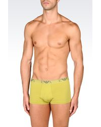 Emporio Armani - Green Set Of Three Boxers for Men - Lyst