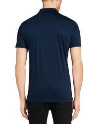 HUGO | Blue Sdeven Knitted Long Sleeved Polo for Men | Lyst