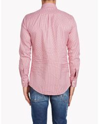 DSquared² - Red Classic Button Down Shirt for Men - Lyst
