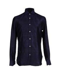 Mp Massimo Piombo - Blue Shirt for Men - Lyst