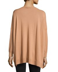 Michael Kors - Brown High-low Knit Sweater - Lyst