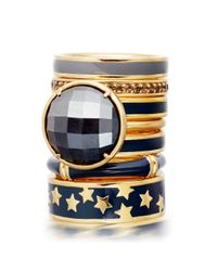 Astley Clarke - Blue Colour Star Shower 18ct Gold Vermeil Stacking Ring - Lyst