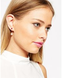 ASOS   Multicolor Limited Edition Mismatch Bead & Faux Pearl Earrings   Lyst