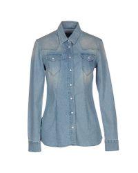 Re-hash - Blue Denim Shirt - Lyst
