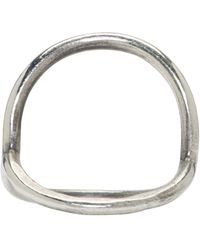 Ann Demeulemeester | Metallic Silver Circle Ring | Lyst