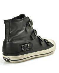 Ash - Black Buckle Sneaker In Leather - Lyst