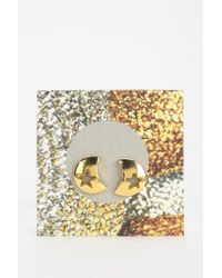 Urban Outfitters - Metallic Moon/Star Gift Card Earring - Lyst