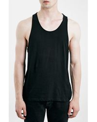 TOPMAN | Black Classic Fit Tank Top for Men | Lyst