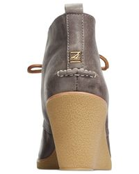 Sperry Top-Sider - Gray Women's Harlow Wedge Booties - Lyst