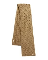 MICHAEL Michael Kors | Natural Cable Knit Scarf | Lyst