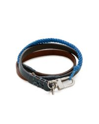 Caputo & Co. | Blue Hand Knotted Triple Wrap Bracelet for Men | Lyst