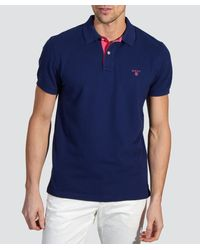 Gant | Blue Pique Polo Shirt for Men | Lyst