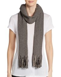 Missoni | Gray Wool-blend Two-tone Zig-zag Scarf | Lyst