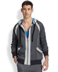 2xist - Black Terry Full-zip Hoodie for Men - Lyst