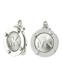 Michael Kors | Metallic Logo Button Stud Clip On Earrings | Lyst