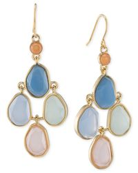 Carolee | Multicolor Gold-tone Multi-stone Chandelier Earrings | Lyst